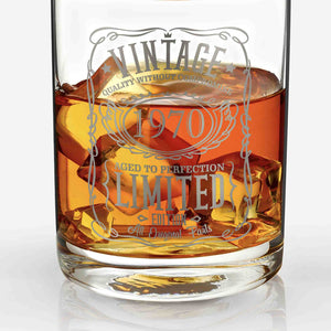 1970 50th Birthday Whiskey Glass