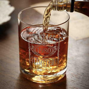1980 40th Birthday Whiskey Glass