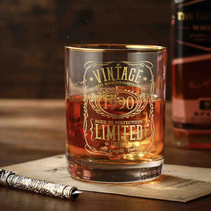 1990 30th Birthday Whiskey Glass