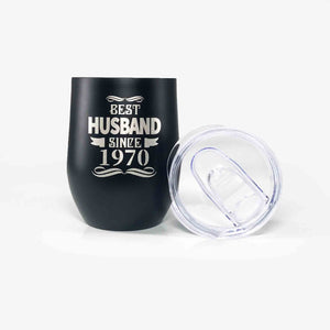 Best Husband Since 1970 Tumbler - 50th Anniversary Gift for Men