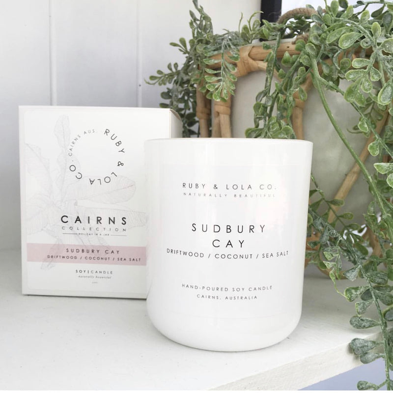 Eco-luxe soy candle - Sudbury Cay