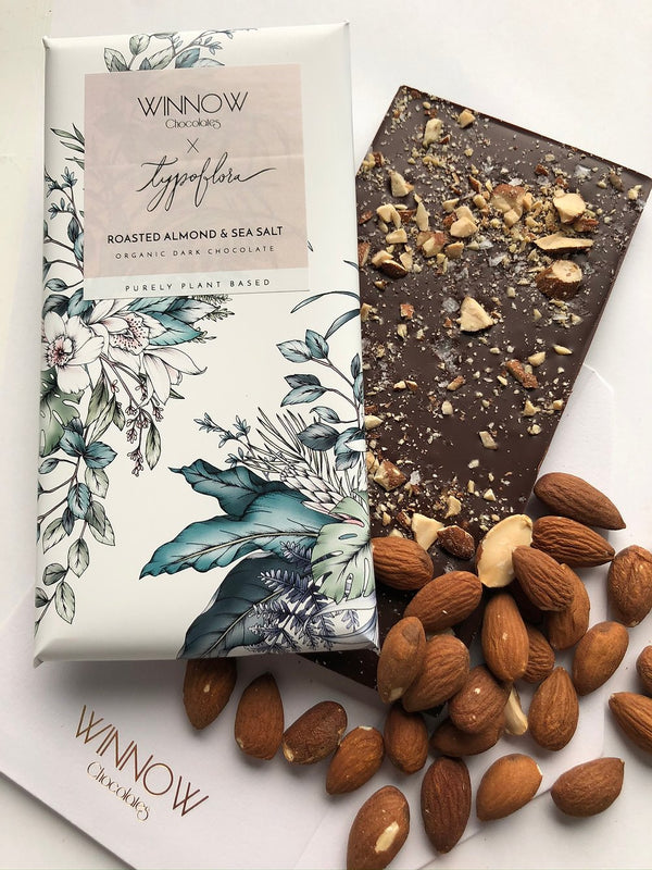 Roasted Almond & Sea Salt Plant Based Chocolate Bar