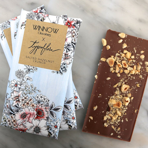 Salted Hazelnut Crunch Chocolate Bar