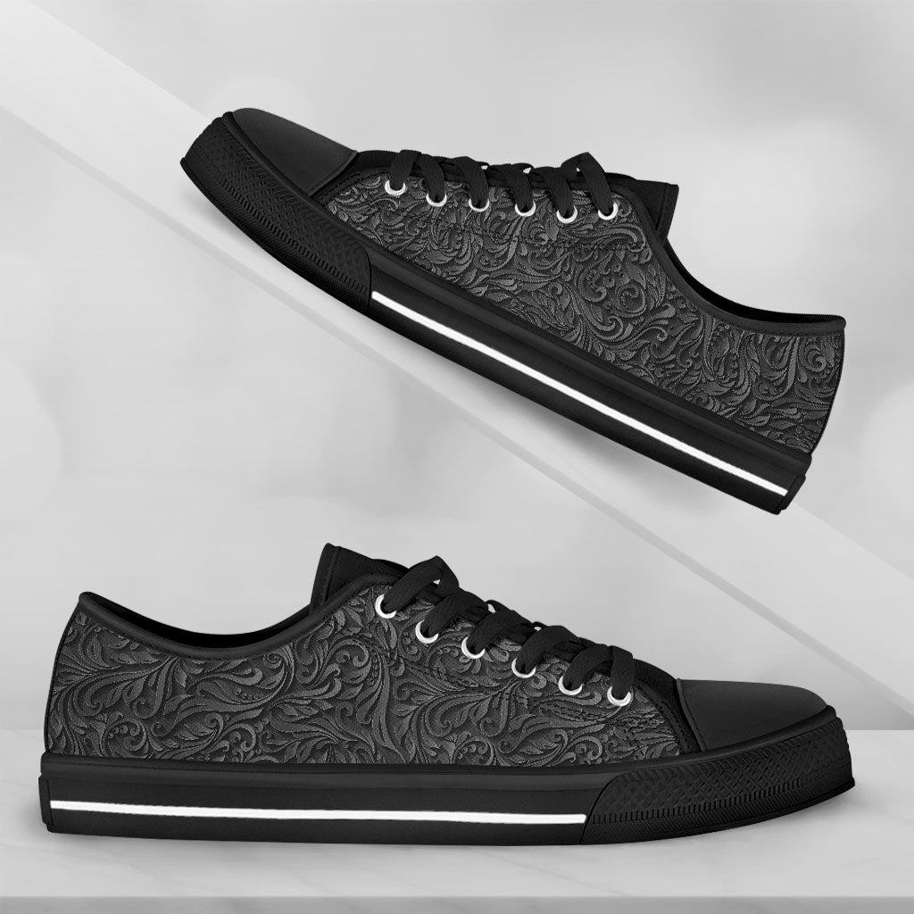Black Floral Emboss - thesneaker-shop