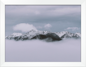 Cloudy Mountain Print