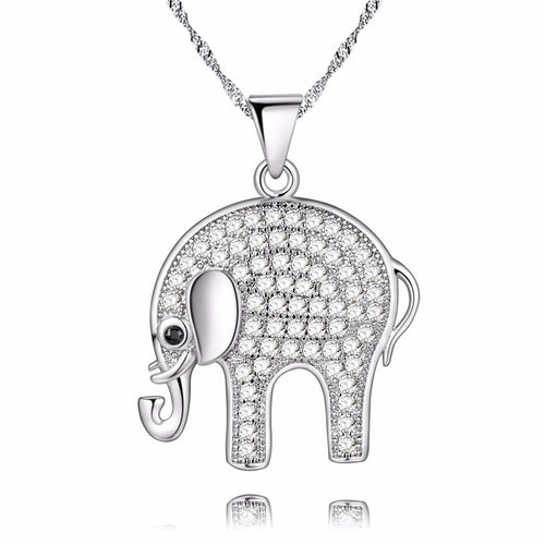 Anime Choker Necklace Elephant Pendant Necklace Pendant Silver Color Jewelry