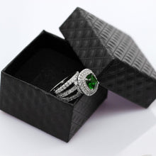 Load image into Gallery viewer, Women's Wedding Rings Engagement Ring with Stone Big Green Crystal Zirconia Jewelry Accessories Gifts for Women