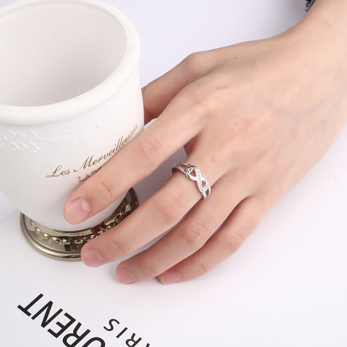 925 Sterling Silver Infinity Rings for Women Endless Love Symbol Wedding Ring Fashion Jewelry Gift for Mother JEWEL DIVINE