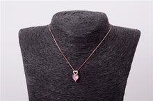 Load image into Gallery viewer, Pink Heart Necklaces Pendants Silver 925 Jewelry Necklace For Women