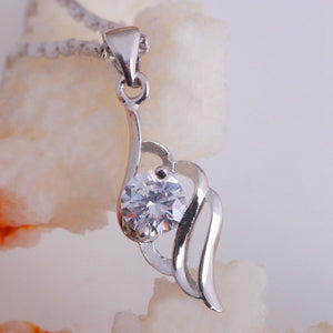 Necklace Pendant Mother's Day Gift Necklace Women Jewelry White Crystal Pendant