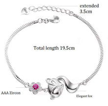 Load image into Gallery viewer, Fox Bracelets for Women Crystal Charms Anime Bracelet Fashion Jewellery Gifts for Girls