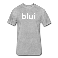 Men's Tee - Large Blui Logo - heather gray