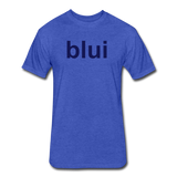 Men's Fitted 60/40 Tee - Large Blui Logo