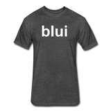 Men's Tee - Large Blui Logo - heather black