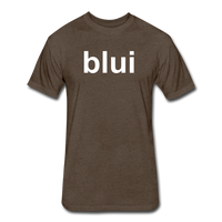 Men's Tee - Large Blui Logo - heather espresso