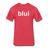 Men's Tee - Large Blui Logo - heather red