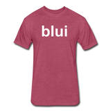 Men's Tee - Large Blui Logo - heather burgundy
