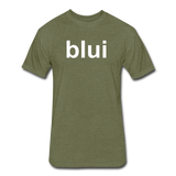 Men's Tee - Large Blui Logo - heather military green