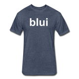 Men's Tee - Large Blui Logo - heather navy