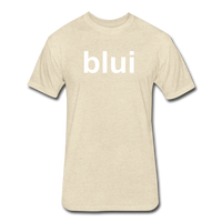Men's Tee - Large Blui Logo - heather cream