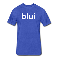 Men's Tee - Large Blui Logo - heather royal