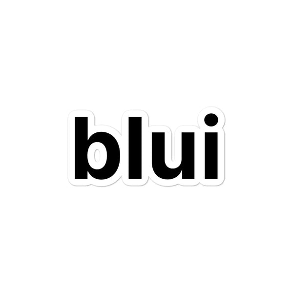 Bubble-free sticker - Blui Logo
