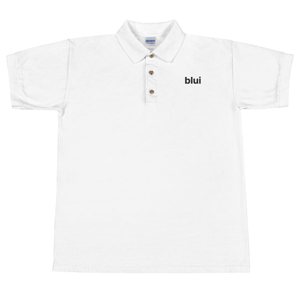Embroidered Polo Shirt - Left Chest Blui Logo