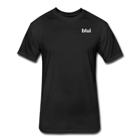 Men's Fitted 60/40 Tee - Left Chest Blui Logo 1 - black