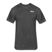 Men's Fitted 60/40 Tee - Left Chest Blui Logo 1 - heather black