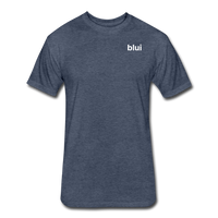 Men's Fitted 60/40 Tee - Left Chest Blui Logo 1 - heather navy