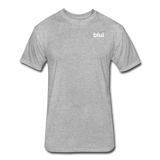 Men's Fitted 60/40 Tee - Left Chest Blui Logo 1 - heather gray