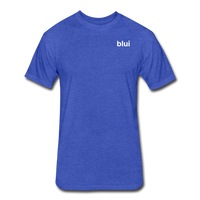 Men's Fitted 60/40 Tee - Left Chest Blui Logo 1 - heather royal