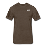 Men's Fitted 60/40 Tee - Left Chest Blui Logo 1 - heather espresso