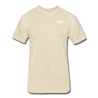 Men's Fitted 60/40 Tee - Left Chest Blui Logo 1 - heather cream