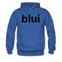 Men's Hoodie - Large Blui Logo - royal blue
