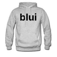 Men's Hoodie - Large Blui Logo - heather gray