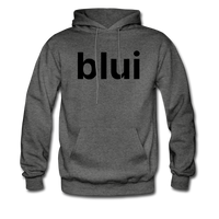 Men's Hoodie - Large Blui Logo - charcoal gray