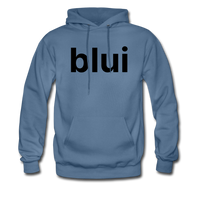 Men's Hoodie - Large Blui Logo - denim blue