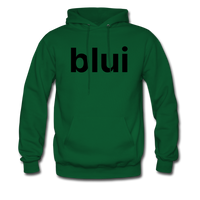 Men's Hoodie - Large Blui Logo - forest green