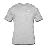 Men's 50/50 Tee - Left Chest Blui Logo - heather gray