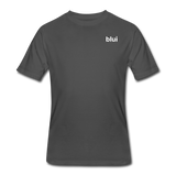 Men's 50/50 Tee - Left Chest Blui Logo - charcoal