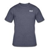 Men's 50/50 Tee - Left Chest Blui Logo - navy heather