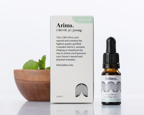 Arima Pure CBD Peppermint Oil 5% (500MG) - 10ML