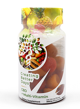 CREATING BETTER DAYS CBD MULTI-VITAMIN GUMMIES 300MG - 30PCS