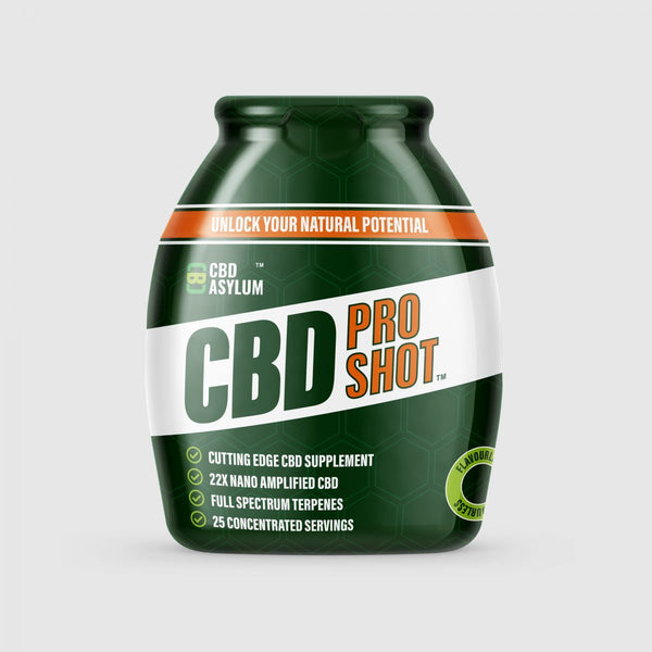 CBD ASYLUM WATER SOLUBLE PRO SHOT BEVERAGE ENHANCER 300MG - 60ML