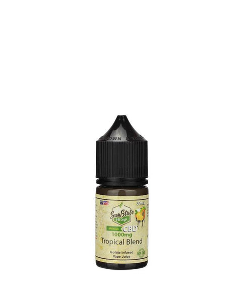 SUN STATE HEMP CBD E-LIQUID TROPICAL BLEND VAPE JUICE 1000MG - 30ML