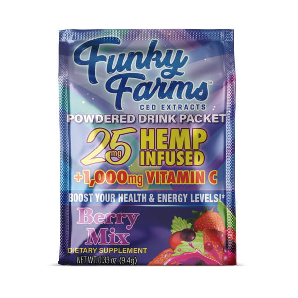 FUNKY FARMS CBD DRINK PACKET BERRY - 25MG