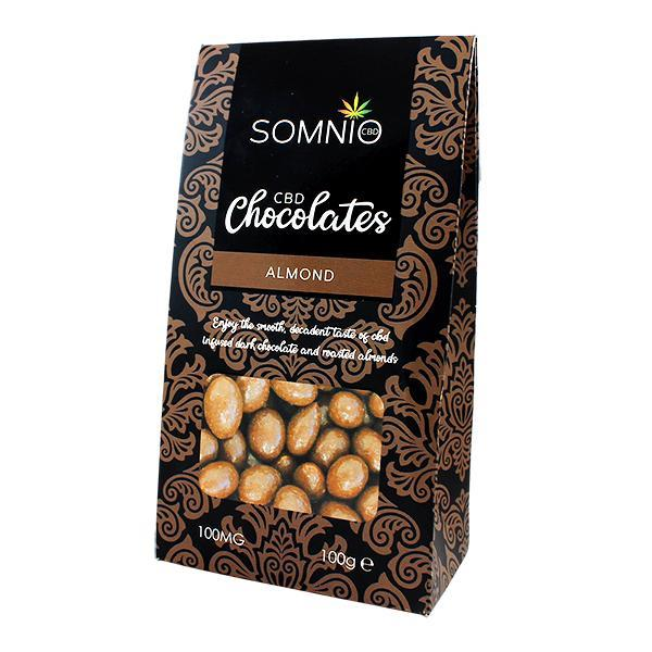 SOMNIO CBD DARK CHOCOLATE ALMOND 100MG - 100G