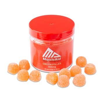 MUSCLEAID CBD PASTILLES 300MG - 30PCS