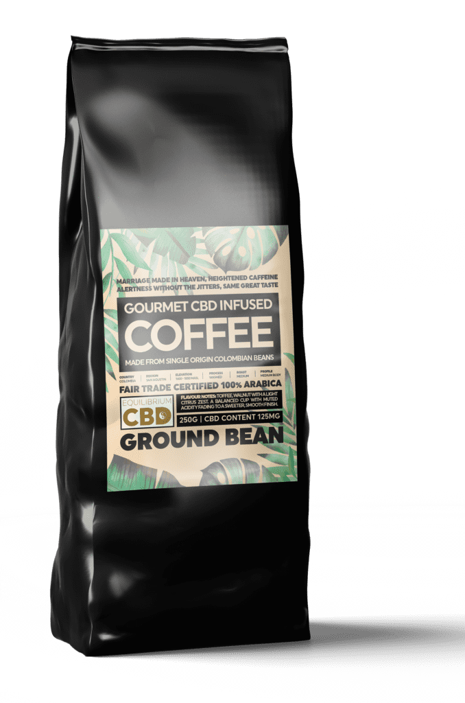 EQUILIBRUIM CBD INFUSED GROUND COFFEE 50MG - 100G